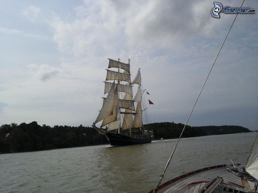 sailing boat, ship
