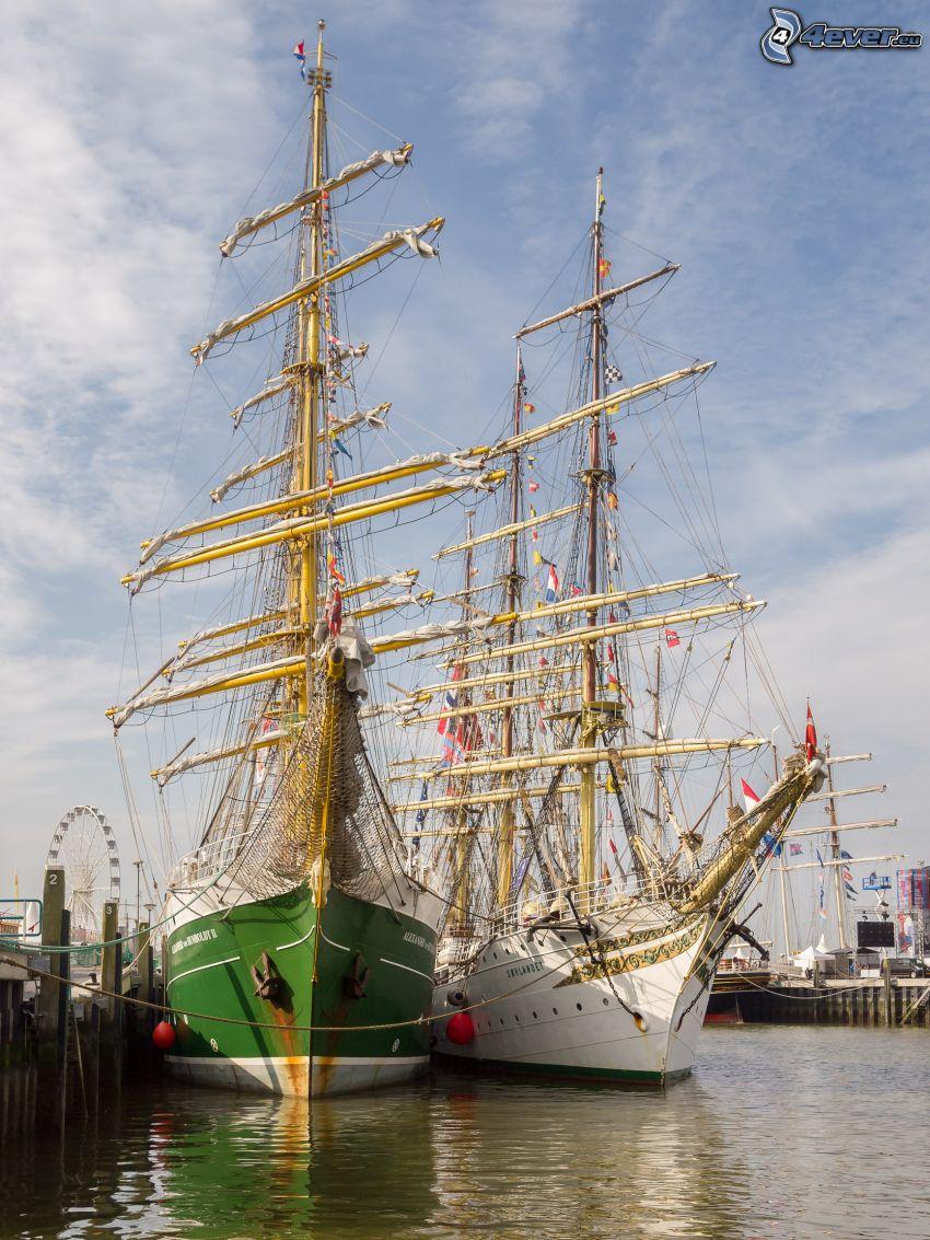 Sørlandet, sailing boat, harbor