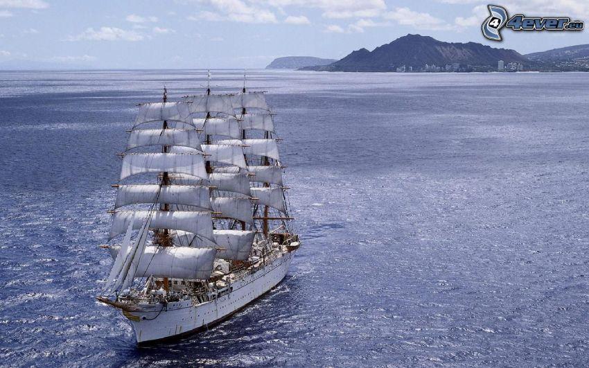 Sørlandet, sailing boat, sea