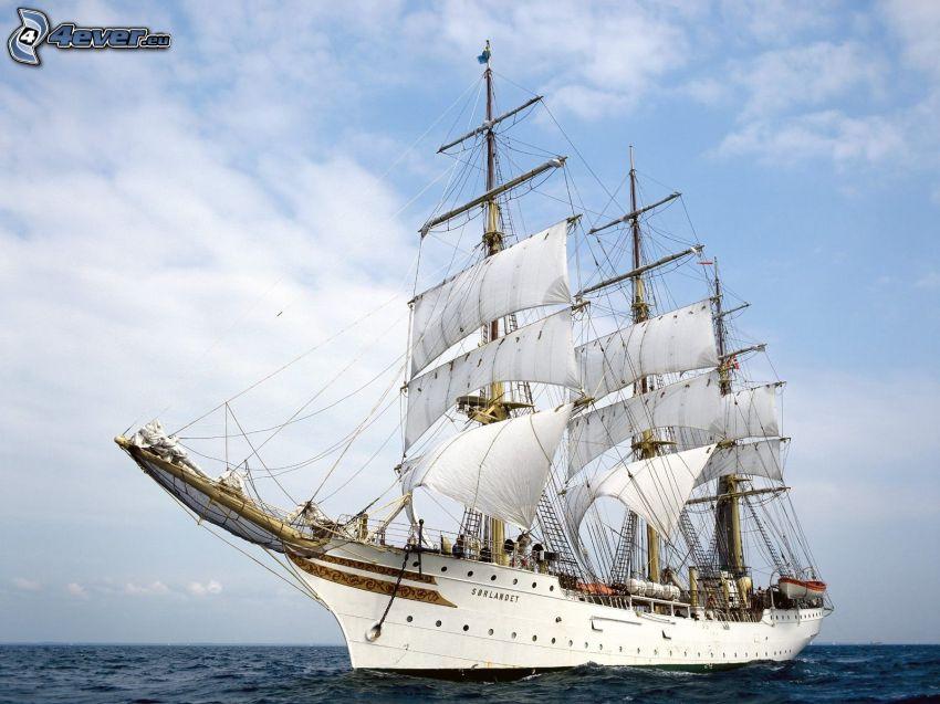 Sørlandet, sailing boat, ship, sea