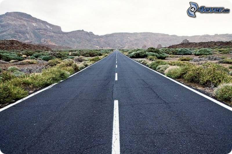 straight way, mountain