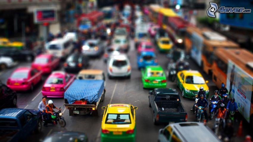 street, cars, diorama