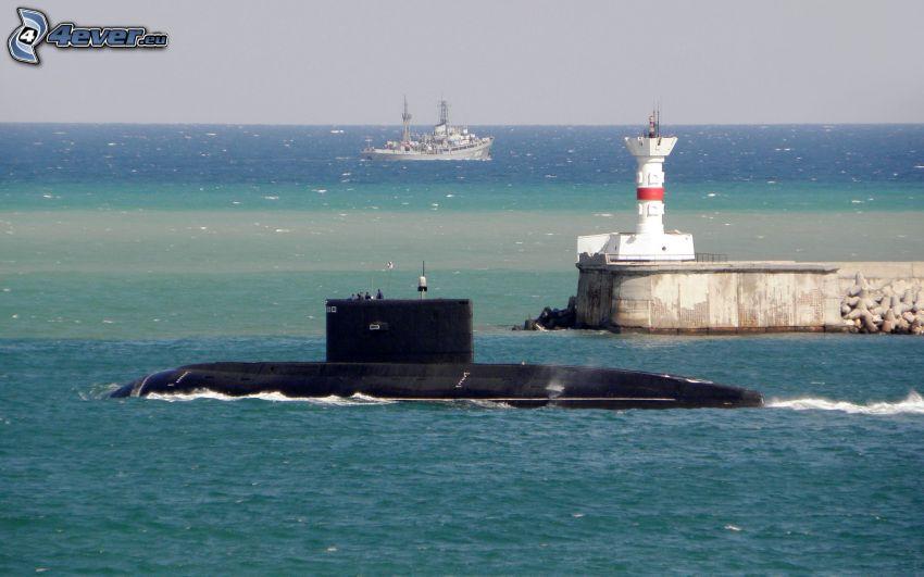 submarine, ship
