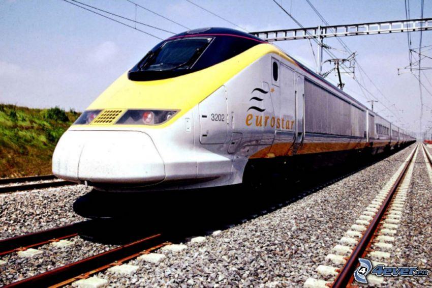 Eurostar, train, rails
