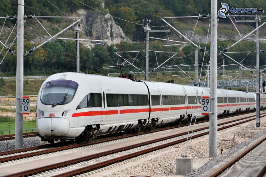 ICE 3, high speed train, rails