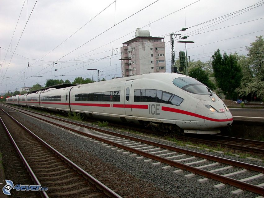 ICE 3, rails, high speed train