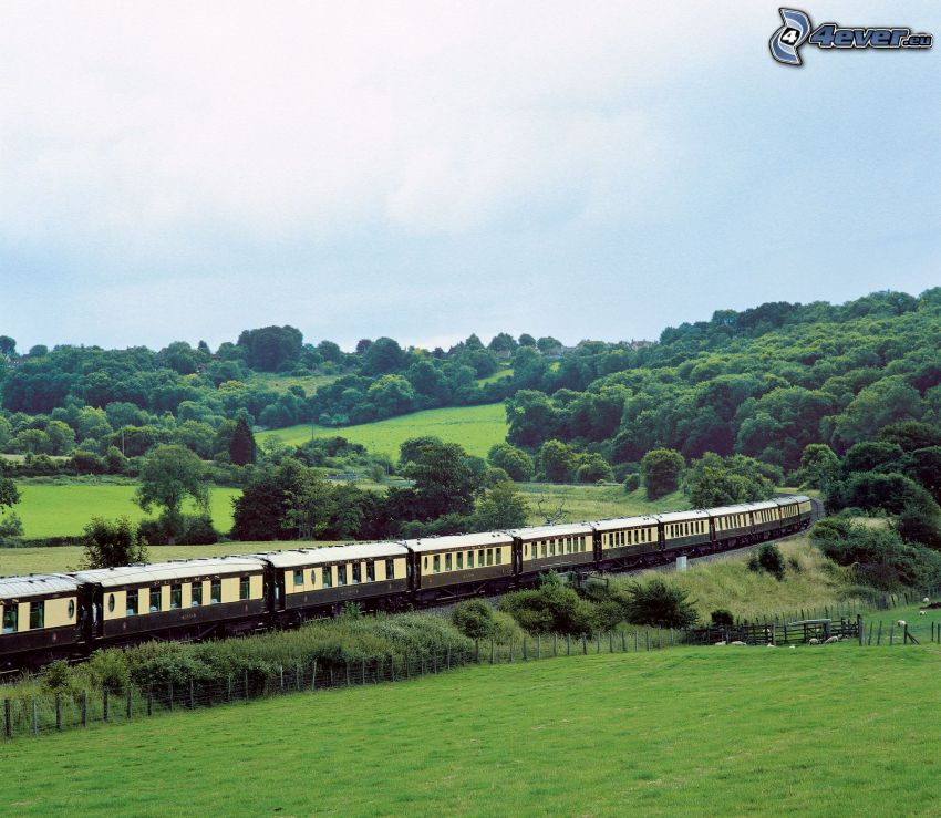Orient Express, english countryside, Pullman