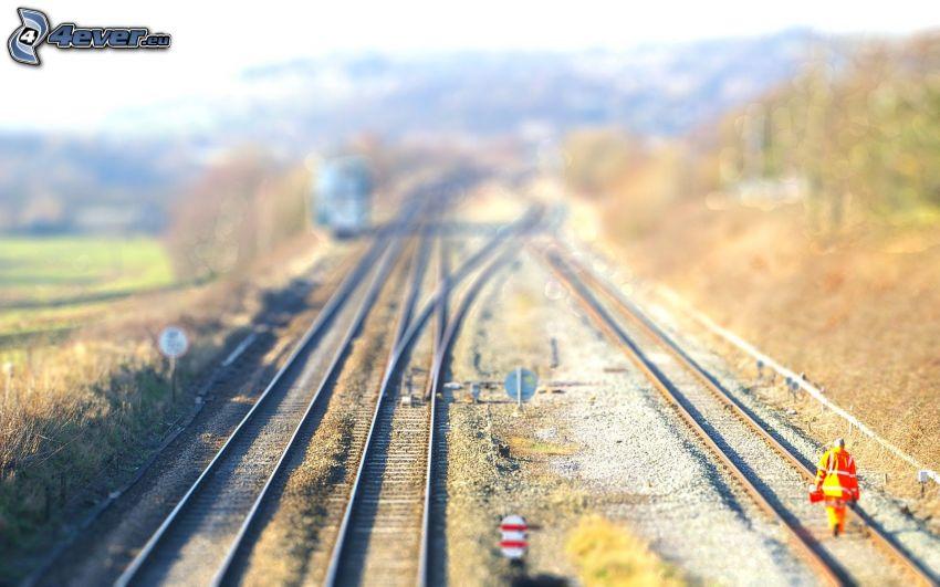 rails, diorama