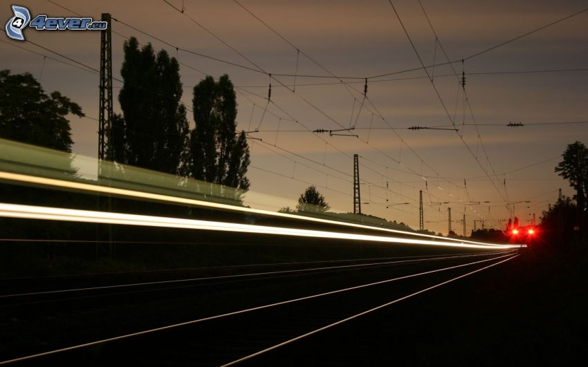 railway, lights