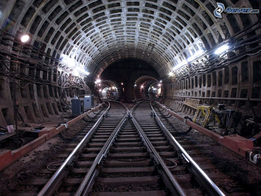 railway tunnel, rails