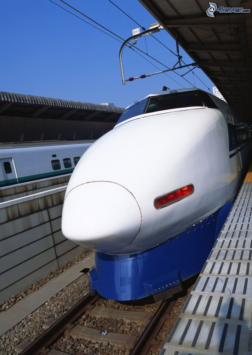 Shinkansen, high speed train, railway station, Japan