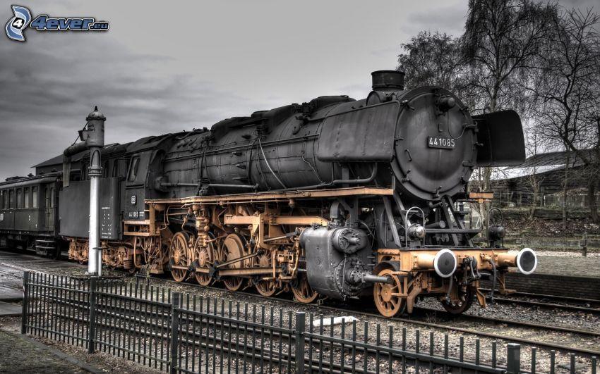 steam locomotive, HDR
