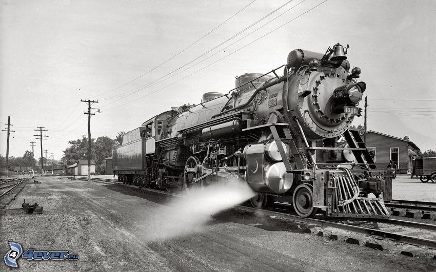 steam locomotive, steam train