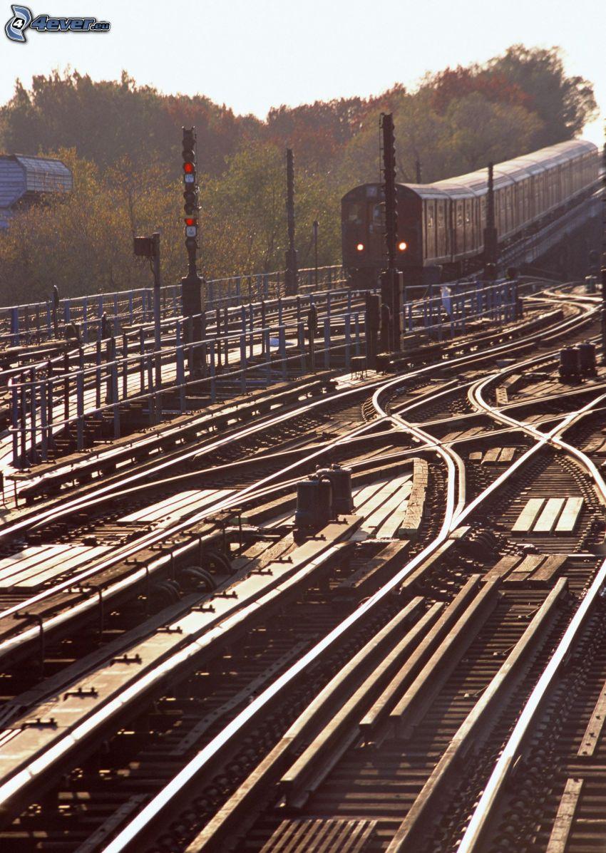 subway, railway, rails