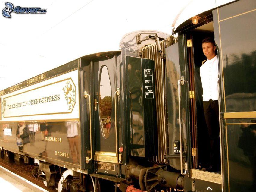 Venice Simplon Orient Express, Pullman, historic rail cars, steward