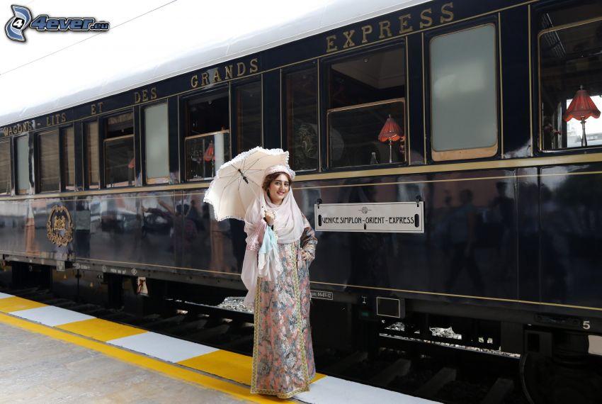 Venice Simplon Orient Express, Pullman, woman