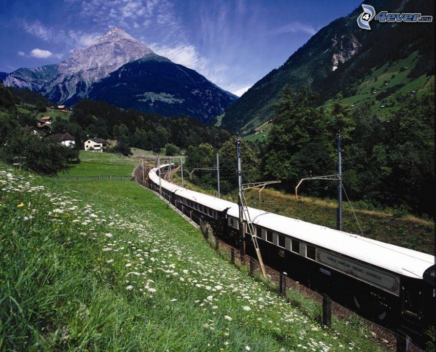 Venice Simplon Orient Express, train, mountains