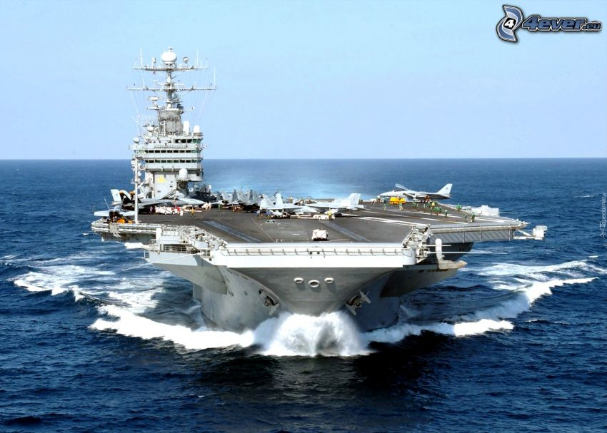 USS George Washington, open sea, aircraft carrier