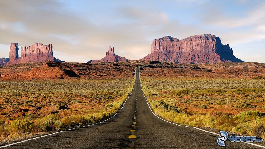 way through Monument Valley, USA