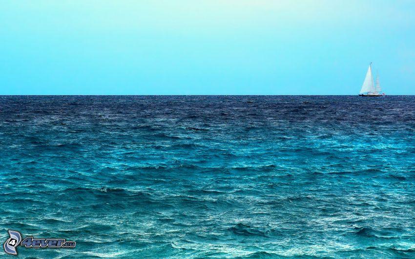 yacht, sea